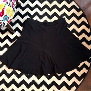 Black Side-Zip Skirt